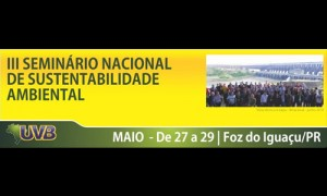 III SEMINÁRIO NACIONAL DE SUSTENTABILIDADE AMBIENTAL