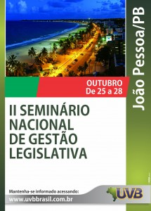 Seminário Nacional em João Pessoa de 25 a 28 de outubro