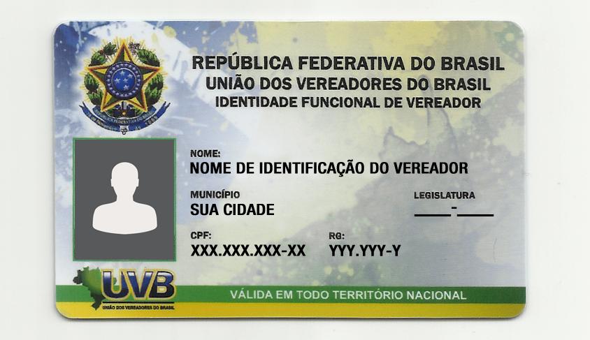 014b2ab5d Carteirinha Frente UVB. Adquira a nova IDENTIDADE FUNCIONAL ...