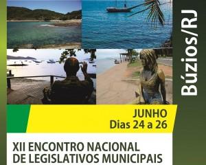 Em Búzios de 24 a 26.06 : XII Encontro Nacional de Legislativos Municipais
