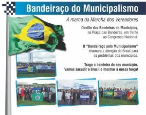 Na Marcha dos Vereadores, o Bandeiraço do Municipalismo