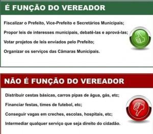FUNÇÕES DO VEREADOR