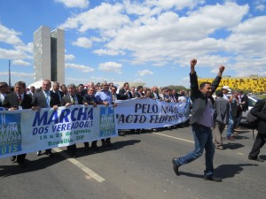 Bandeiraço do municipalismo e caminhada acontece no primeiro dia da Marcha