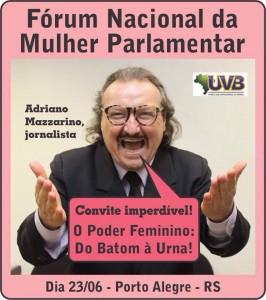 O Irreverente Mazzarino confirmado no encontro das Mulheres