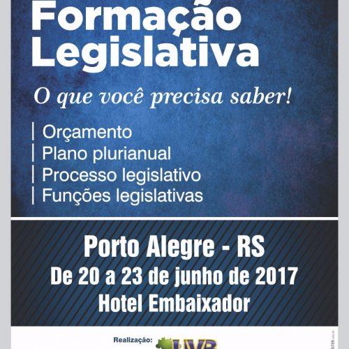 Seminário Nacional de Formação Legislativa de 20 a 23/06 – Porto Alegre, confira a programação