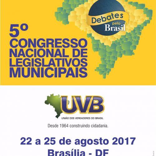 Programação atualizada – 5° Congresso Nacional de Legislativos Municipais