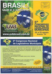 Agende-se para 5° CONGRESSO NACIONAL DE LEGISLATIVOS MUNICIPAIS! Em Brasília
