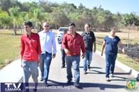 Vereadores visitam obras no município de Querência.