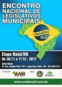 Programação do Encontro Nacional de Legislativos Municipais – etapa Natal
