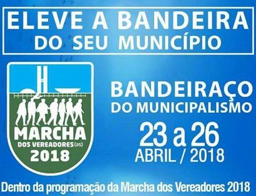 Leve a bandeira do seu município na Marcha dos Vereadores
