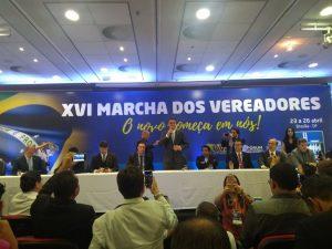 Termina o terceiro dia da Marcha dos Vereadores com participação de Bolsonaro
