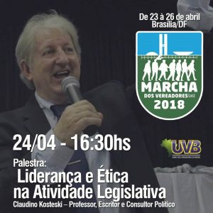 O Claudino vai de Curitiba especialmente para Marcha