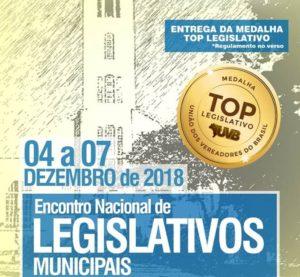 ABERTA AS INSCRIÇÕES PARA O TOP LEGISLATIVO 2018