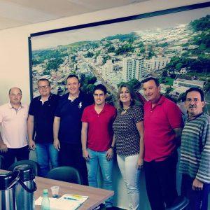 Presidente da UVB visita câmara de Palmitos/SC