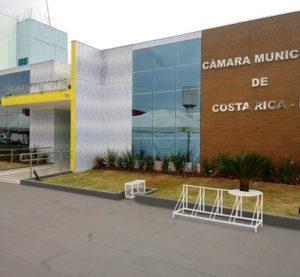Vereadores aprovam mudança e sessões da Câmara de Costa Rica serão pela manhã