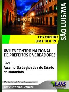 São Luis – Maranhão, receberá vereadores dias 18 e 19