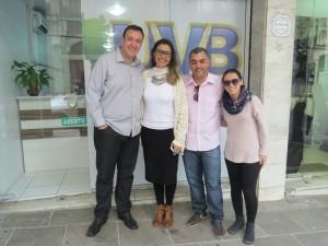 Equipe da TV Câmara de Campos dos Goytacazes/RJ  visita as instalações da UVB em Porto Alegre/RS