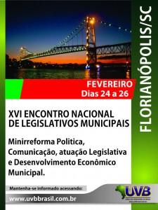 De 24 a 26 de fevereiro – UVB em Florianópolis