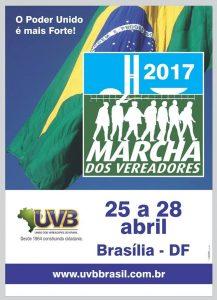 Marcha dos Vereadores acontece de 25 a 28 de abril