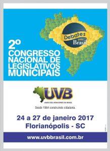 De 24 a 27/01 Congresso Nacional em Florianópolis