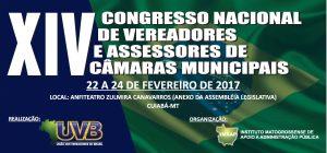 Cuiabá – XIV Congresso Nacional de Vereadores, de 22 a 24/02