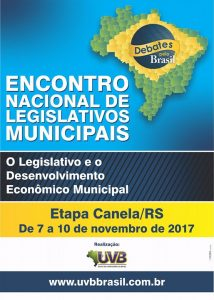 Canela recebe Encontro Nacional de Legislativos Municipais, De 07 a 10 de novembro