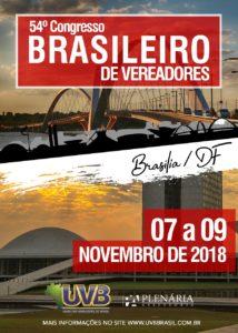 54° CONGRESSO BRASILEIRO DE VEREADORES EM BRASÍLIA