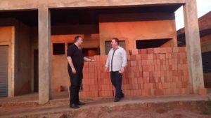 Presidente da UVB visita obras da UCVMS em Campo Grande