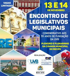 Câmara do Recife celebra os 55 anos de fundação da UVB
