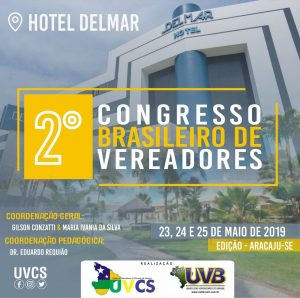 PROGRAMAÇÃO DO CONGRESSO BRASILEIRO DE VEREADORES – ARACAJU/SE