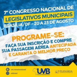 UVB  realizará Congresso na Capital Federal para qualificar membros do poder legislativo.