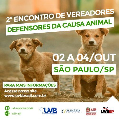2º Encontro de Vereadores Defensores da Causa Animal em  São Paulo.