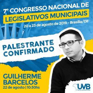 Confirmado Guilherme Barcelos ,Mestre em Direito Público no 7º Congresso Nacional.