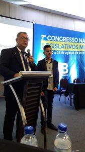 Coordenador  Geral  popularização da ciência  do Ministério  da Ciência ,Tecnologia, Inovações  e Comunicacoes-MCTIC , esteve participando do 7 Congresso Nacional de Legislativos.