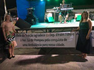 Vereadora do DEM em Baía da Traição-PB entrega uma nova ambulância para os potiguaras