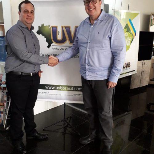 Vereador de Mineiros-GO visita a sede da UVB em Brasília-DF.