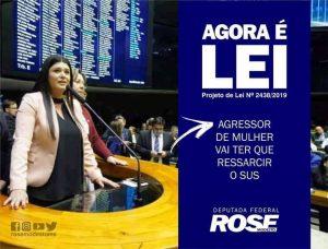 Projeto da deputada Rose Modesto fará agressor ressarcir SUS