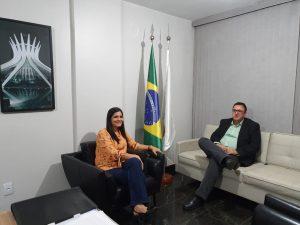 Presidente UVERC, Priscila Veloso visita UVB em Brasília.
