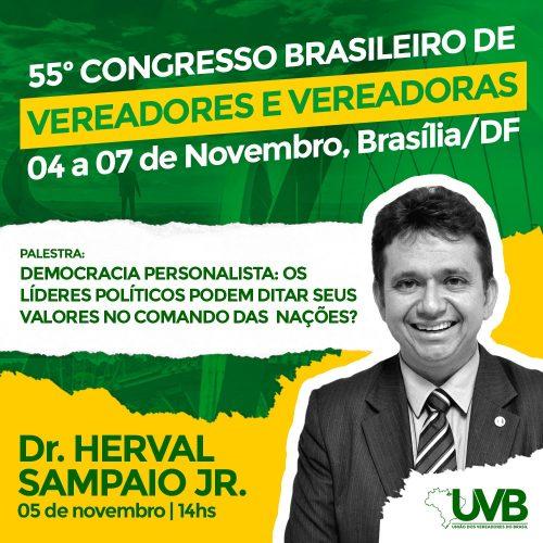 Juiz Herval Sampaio confirmado no 55º Congresso Brasileiro de Vereadores