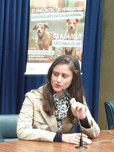 Dra. Maíra Vélez  Presidente CDPA OAB Estadual /SP participa do 2º Encontro de Vereadores defensores da Causa animal