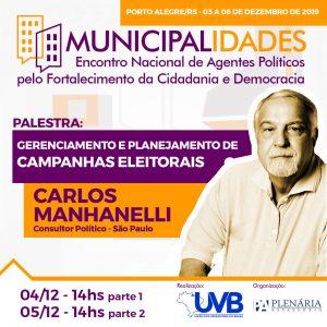 """Manhanelli confirmado no Encontro Nacional de Agentes Políticos pelo Fortalecimento da Cidadania e Democracia"""""""