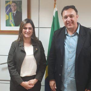 Secretária Nacional de Politicas para Mulheres recebe presidente da UVB