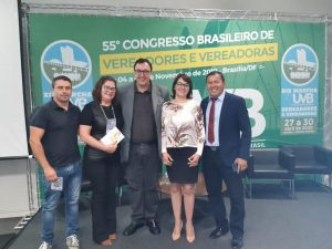 Comitiva de vereadores  de Arvorezinha-RS participam de Congresso de vereadores em Brasília-DF