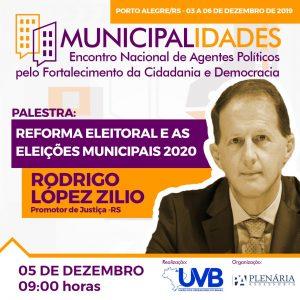 Promotor de Justiça Dr Rodrigo López confirmado  no Encontro Nacional de Agentes Políticos.