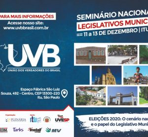 Itu-SP sediará Encontro Nacional de Legislativo Municipal de 11 a 13 de dezembro.