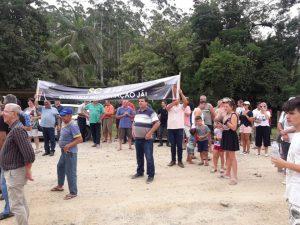 Comitiva se reúne para falar com o governador sobre a pavimentação da SC 414