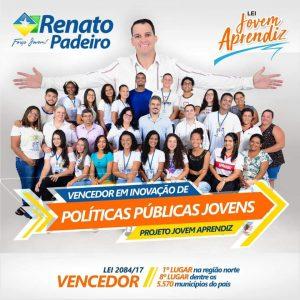 Município de Ariquemes-RO ganha prêmio nacional pela implementação de Políticas Públicas que beneficiam os jovens