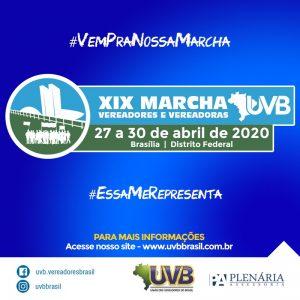 Confira os valores com descontos nas inscrições antecipadas para a XIX Marcha dos Vereadores e Vereadoras.