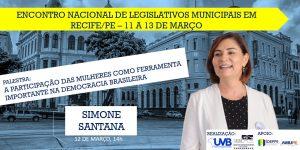 Confira o quadro de palestrantes confirmados do Encontro nacional de Legislativos Municipais em Recife-PE
