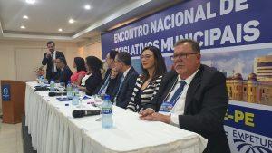 Abertura do Encontro de Legislativos  Municipais em Recife-PE